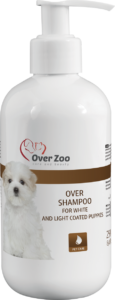 """"""" Over shampoo for white and light coated puppies"""""""