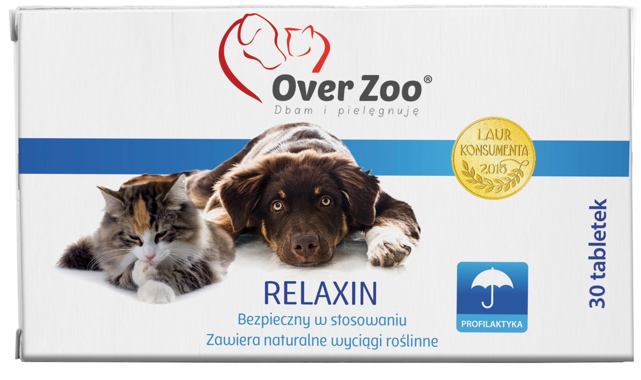 Naturalny, ziołowy preparat dla psów i kotów o działaniu uspokajającym.