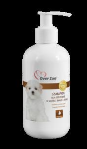 Delikatny szampon dla szczeniąt o sierści białej i jasnej.