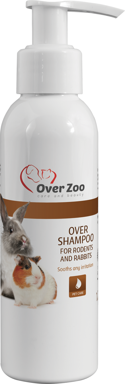 Over shampoo for rodents and rabbits